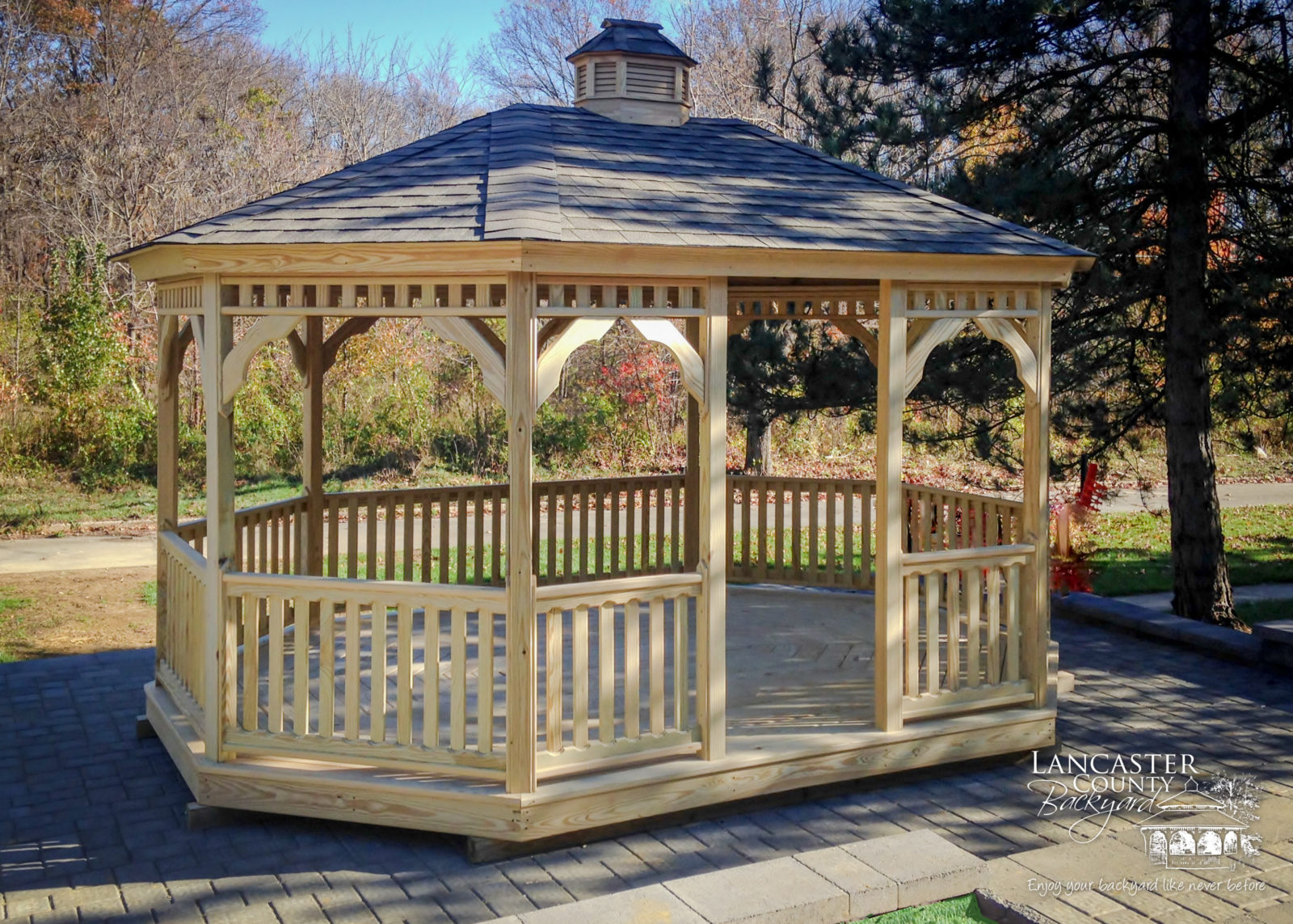 wooden gazebo by amish craftsmen in pa