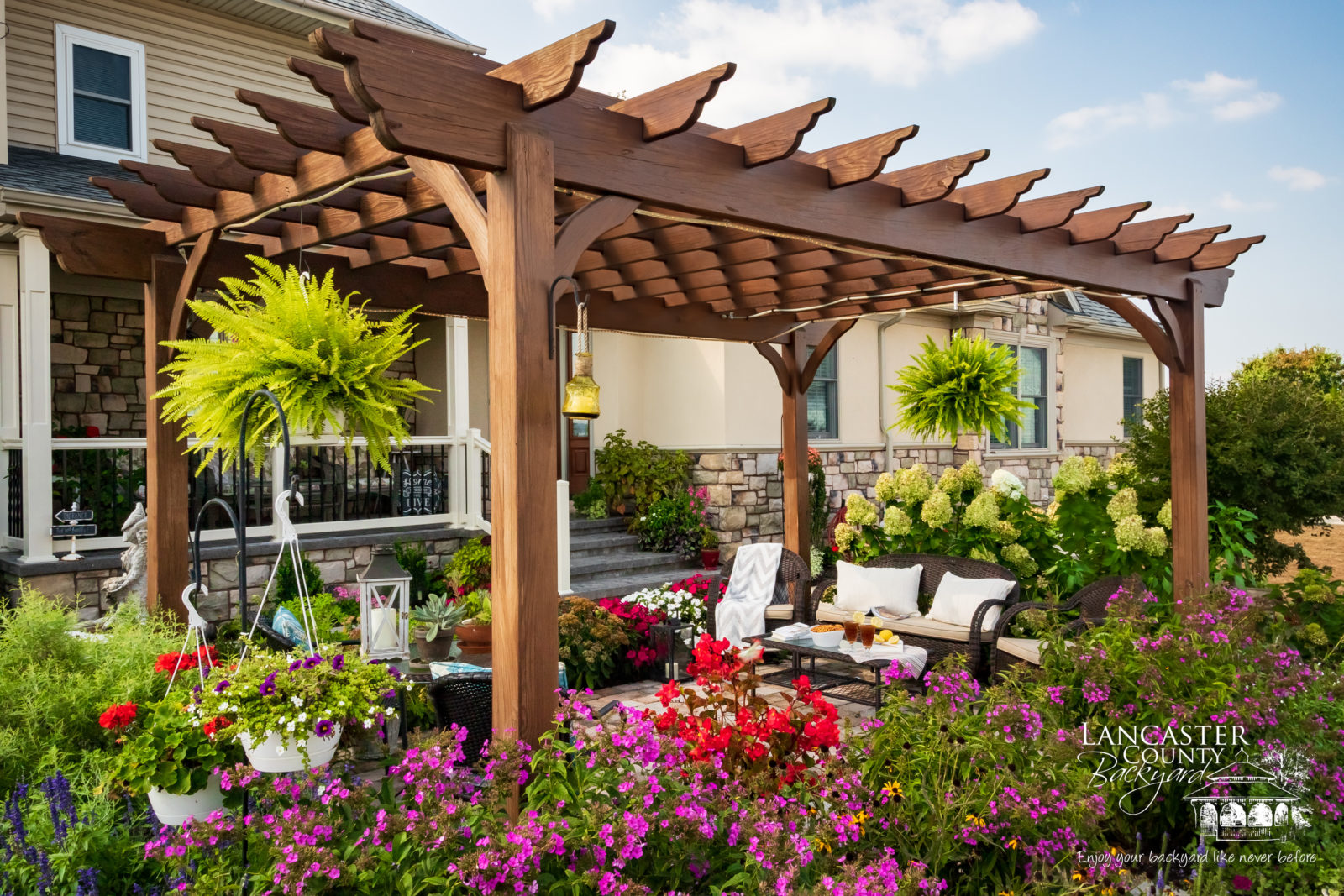 bed and breakfast pergola in lancaster county pa
