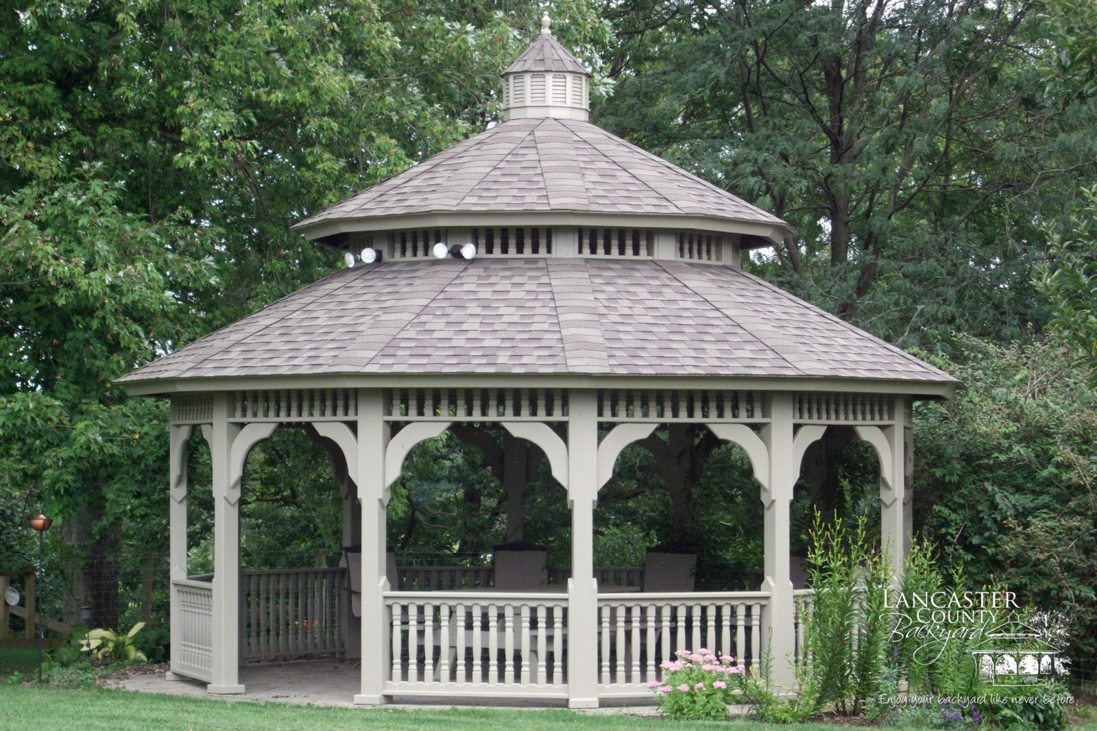 outdoor living structures and outdoor living spaces from pa