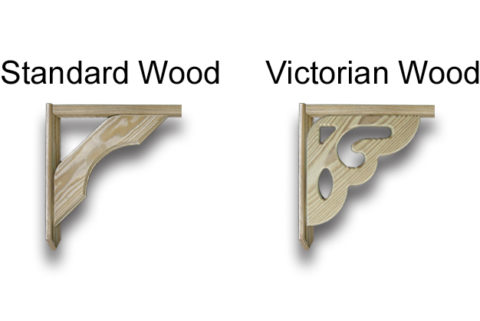 wood gazebo brace options
