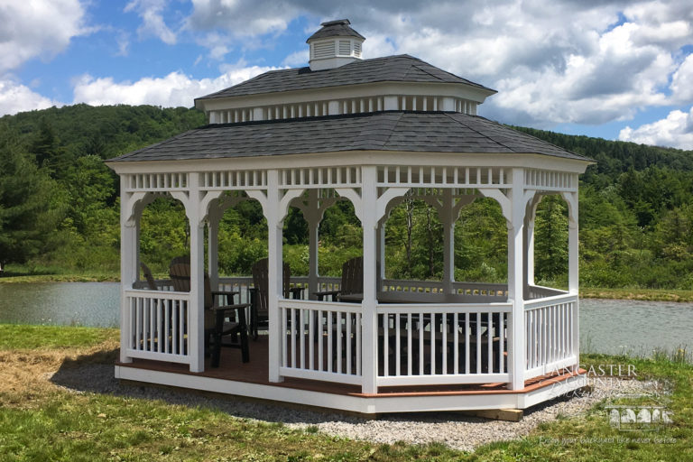12×18 gazebo with a double roof