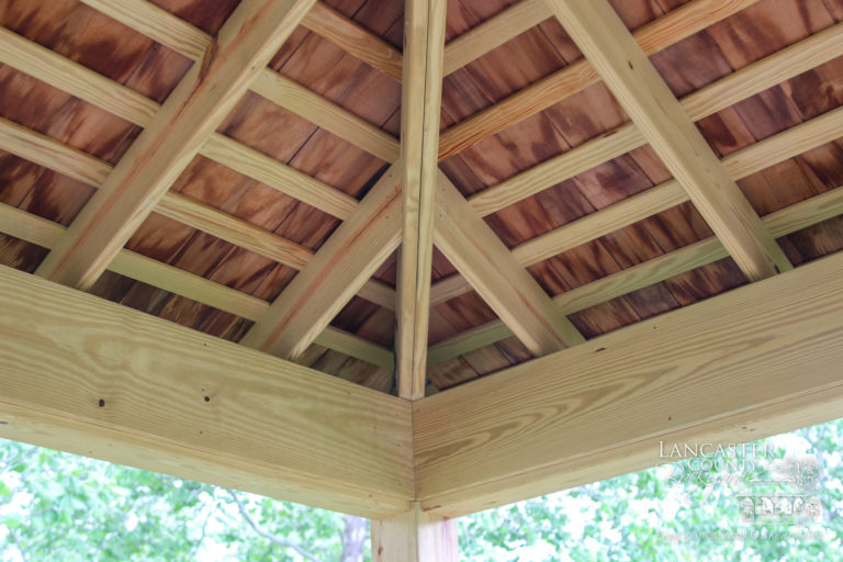20x20 Wood backyard commercial Pavilion