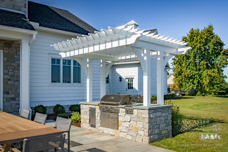 hershey 2'x8' custom wood pergola