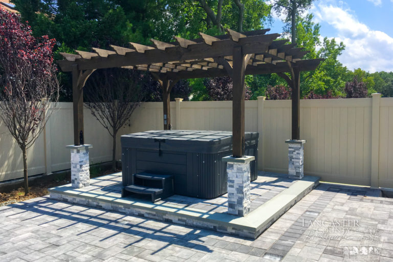 10x12 Stained Wooden Pergola
