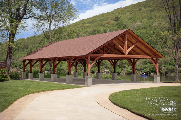 timber frame pavilion from amish builders in lancaster pa