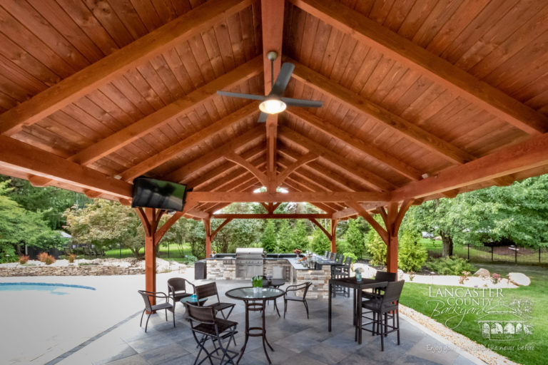 20x40 tim & heather o'connell timber frame pavilion