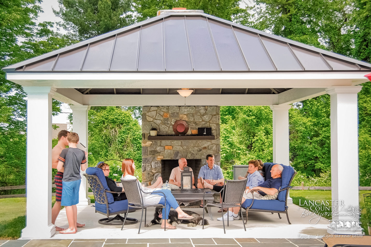 beautiful backyard luxury pavilion for family fun in chester spr