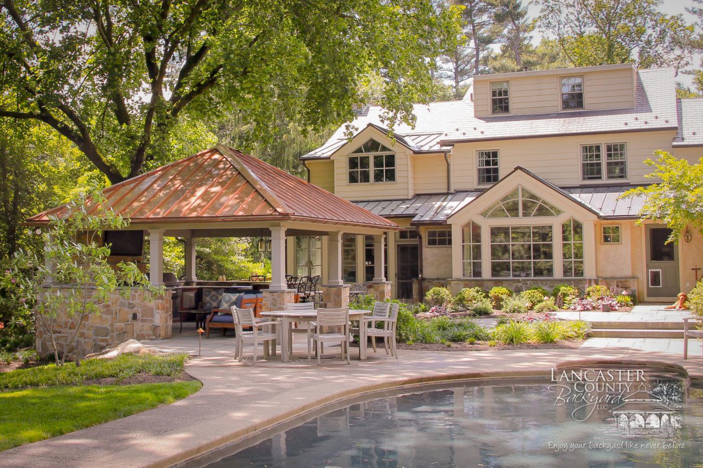 fancy luxurious amish pavilion