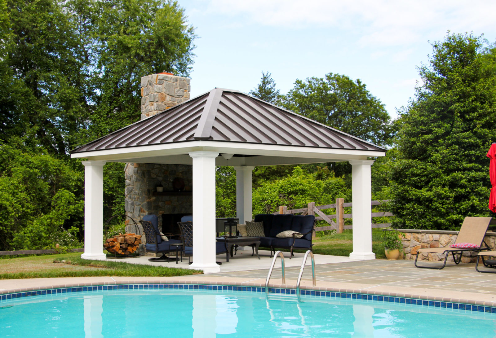 poolside amish pavilion great for parties