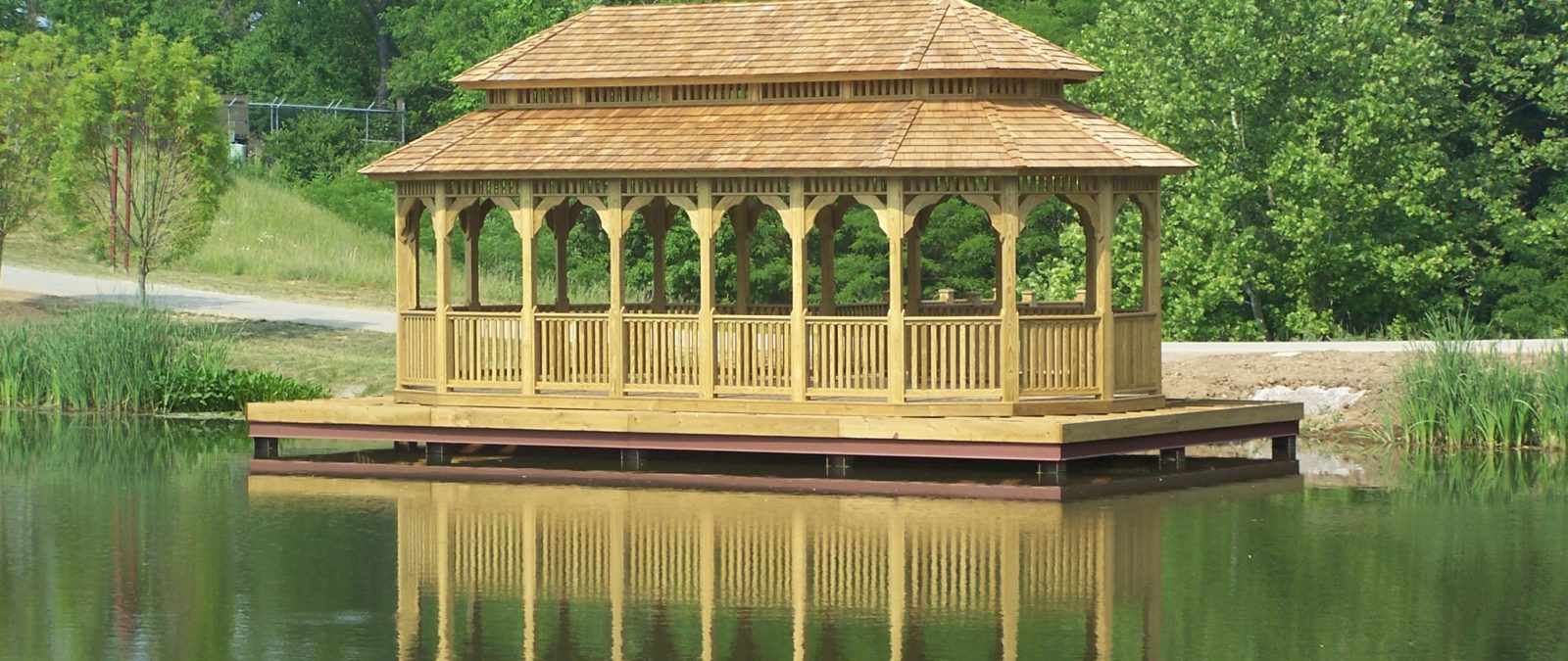 18x36 heavy timber garden gazebo