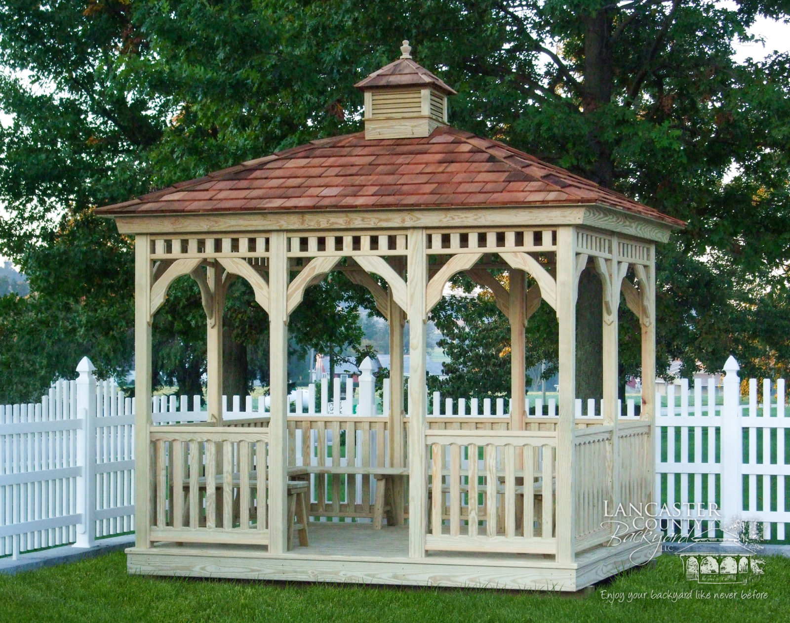 wood rectangle gazebo in pa