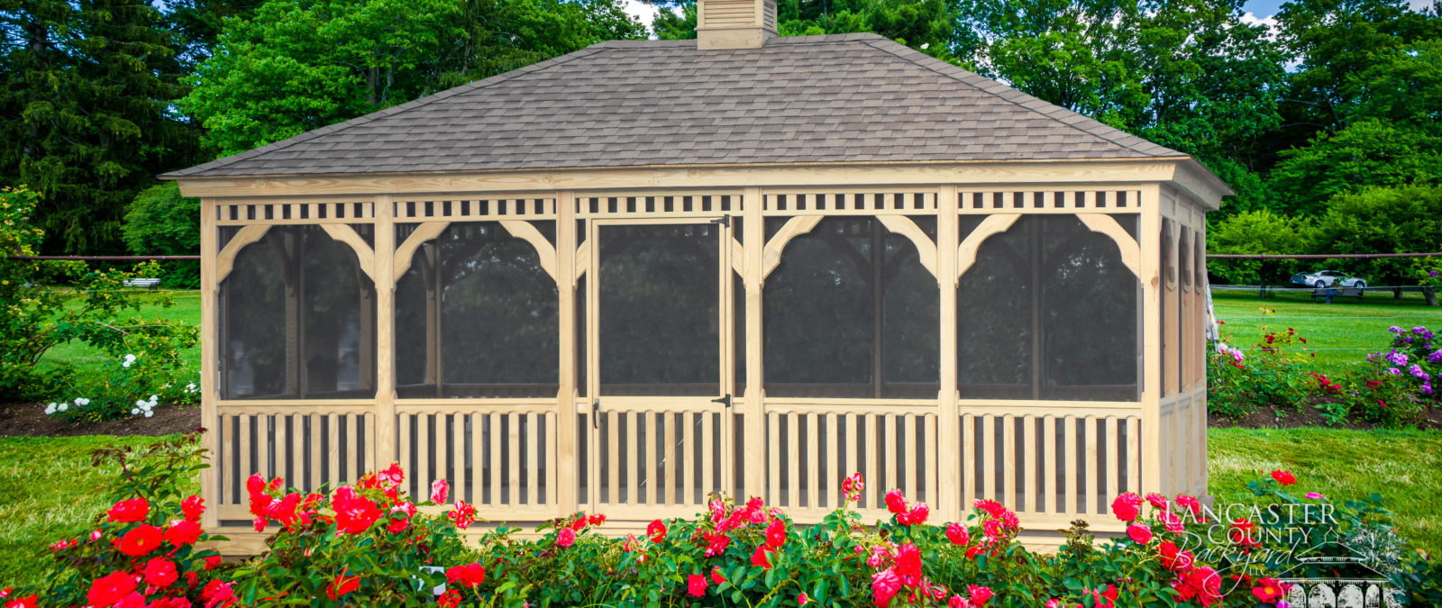 wood rectangle gazebo