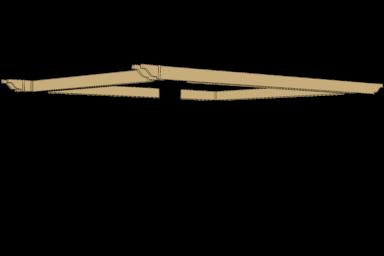 cancun modern backayrd pergola beams