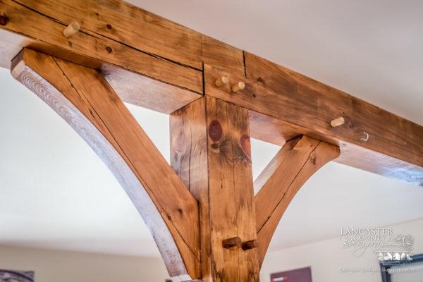 custom timber framing in a house in pennsylvania